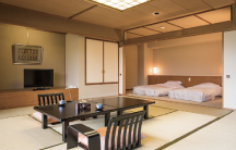 露天風呂付客室 富士山ビューの広々空間